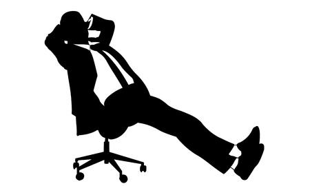 白で隔離される椅子に実業家