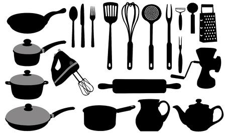 drainer: kitchen utensils Illustration