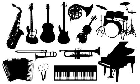 piano: muziekinstrumenten Stock Illustratie