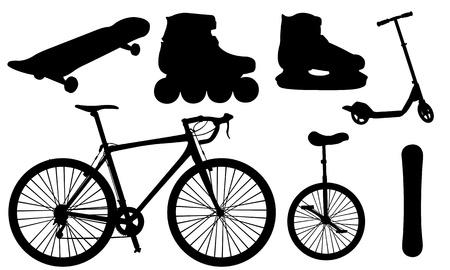 korcsolya: sportfelszerelés Illusztráció