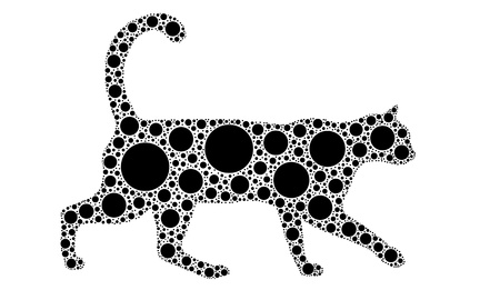 dotted cat Stock Vector - 11574125