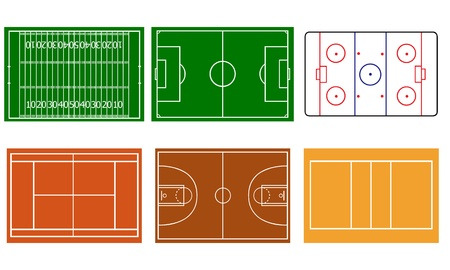 different sport fields Vector