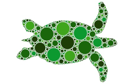 dotted turtle silhouette Stock Vector - 11574136
