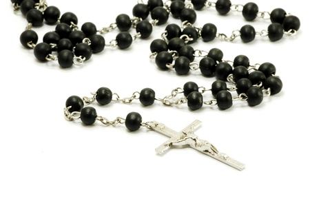 rosary beads: rosary on white