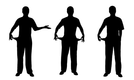 empty pocket: people silhouettes Illustration