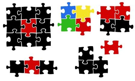 piezas de puzzle: piezas de puzzle