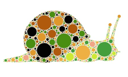 dotted snail illustration Stock Vector - 12375841