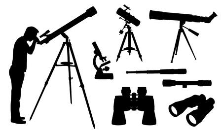 kijker: optische inrichtingen Stock Illustratie