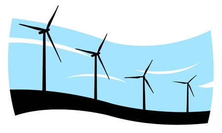 wind turbines concept Vector