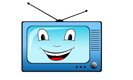 mouth screen: happy television set