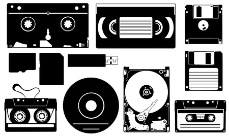 digital storage devices Stock Vector - 15758511