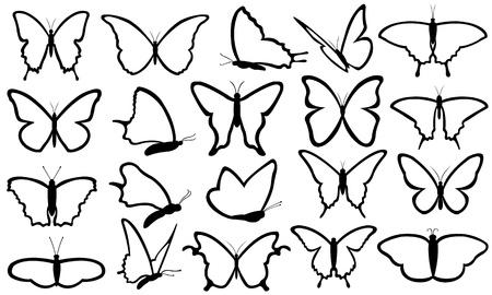 蝶セット  イラスト・ベクター素材