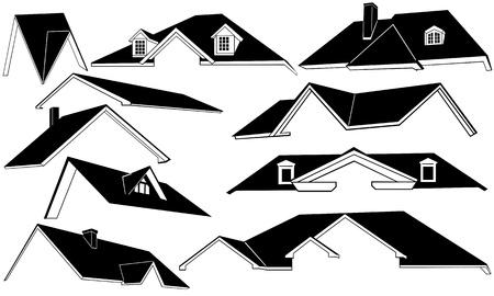 roof set Vector