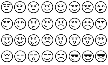 expressive face: different faces isolated