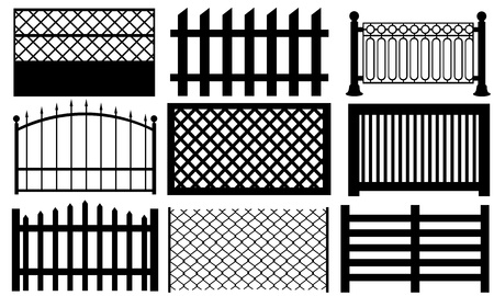 fence set isolated Stock Vector - 16671533