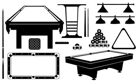 billiards tables: pool set