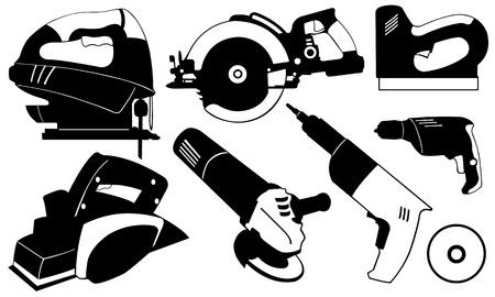 molinillo: herramientas conjunto aislado en blanco