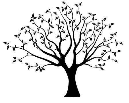 dode bladeren: boom illustratie