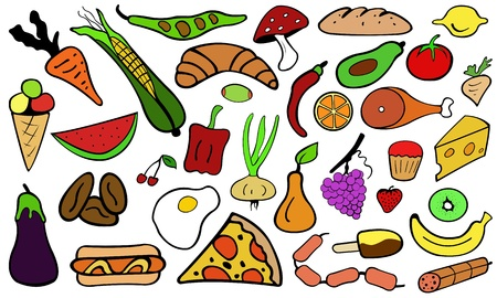 food illustration Vector