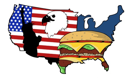 food state: map of united states of America