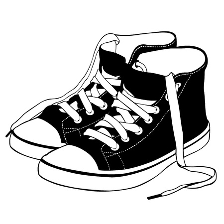 illustration of shoes isolated Vector