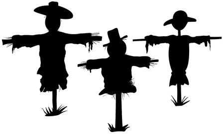 scarecrow set on white Illustration