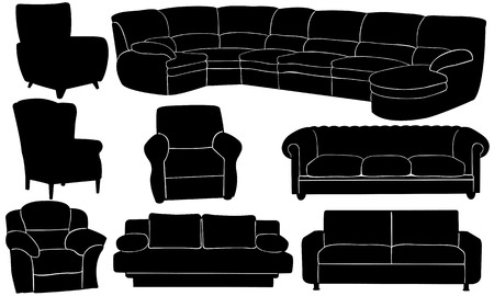 couches and armchairs Stock Vector - 23654131