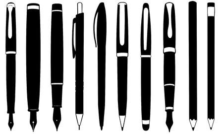 writing instrument: set of writing tools Illustration