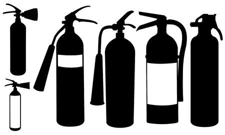 extinguishers: fire extinguishers isolated