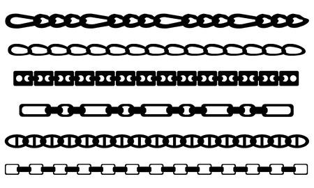 colliers: ensemble de diff�rentes cha�nes