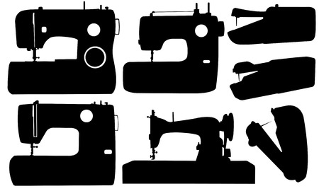 different sewing machines Vector