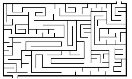 labyrinth: illustration of a labyrinth Illustration