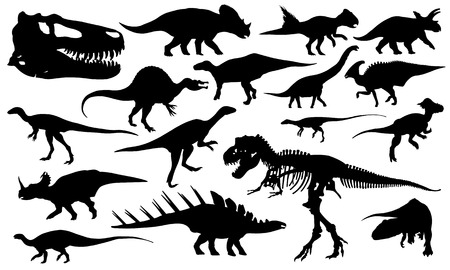 set of different dinosaurs Vector