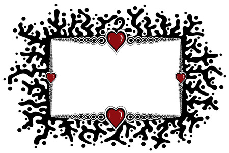 branching: heart frame isolated
