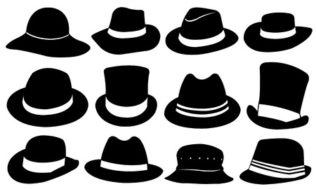 brim: set of different hats Illustration