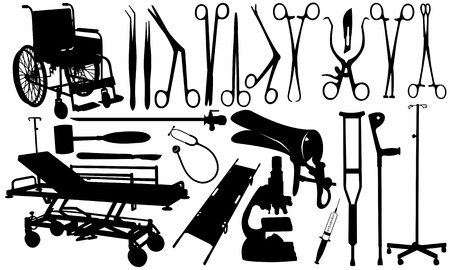set of medical equipment Vector