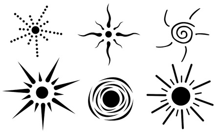 suns: set of different suns isolated