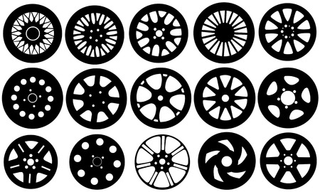 set of different rims