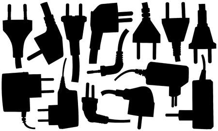 unplugged: aislado conjunto de diversos enchufes