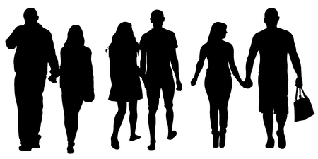 people holding hands: set of people holding hands