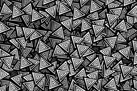 abstract black: Black and white triangles background Stock Photo