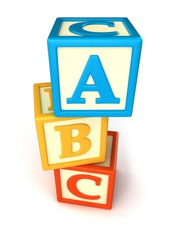 abc blocks: ABC building blocks on white background