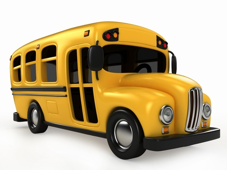 school schedule: 3D Render of School Bus
