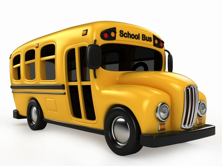 3D Render of School Bus photo