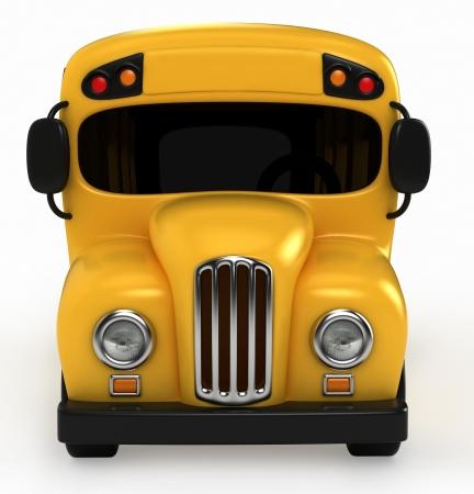 pre school: 3D Render of School Bus