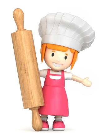 panadero: Render 3D de un peque�o panadero