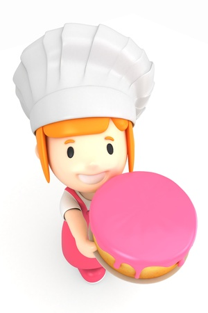 3d render of a little baker Stock Photo - 15474256