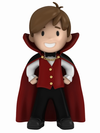3D render of a dracula kid photo