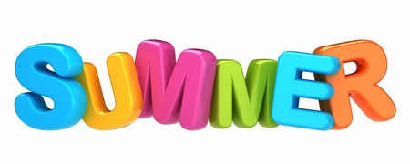 3d render of a summer word Stock Photo - 15632628