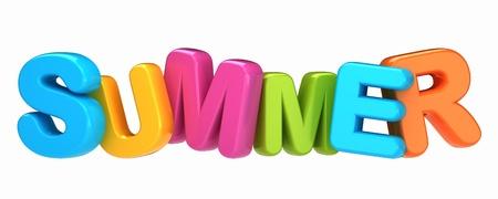 3d text: 3d render of a summer word